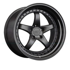 XXR Wheels 565 Flat Black Gloss Black Lip