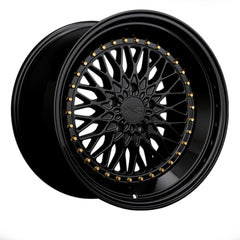 XXR Wheels 576 Black Gold Rivets