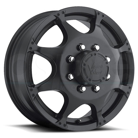 Vision HD Wheels 715 Crazy Eight Black Front