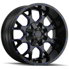 Mayhem Wheels 8015 Warrior Black Blue