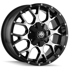 Mayhem Wheels 8015 Warrior Black Machined