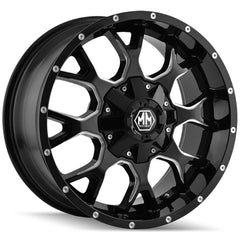 Mayhem Wheels 8015 Warrior Black Milled