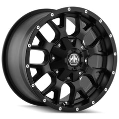 Mayhem Wheels 8015 Warrior Matte Black