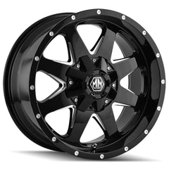 Mayhem Wheels 8040 Tank Black Milled