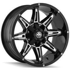 Mayhem Wheels 8090 Rampage Black Milled