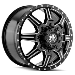 Mayhem Wheels 8101 Monstir Front Black Milled