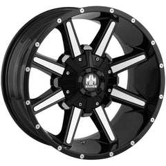 Mayhem Wheels 8104 Arsenal Black Machined