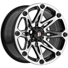 Ballistic Wheels 814 Jester Flat Black Machine