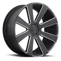 Dub Wheels S187 8-Ball Black Milled