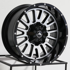 American Off-Road Wheels A105 Black Machined