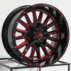 American Off-Road Wheels A105 Black Milled Red