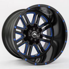 American Off-Road Wheels A106 Black Milled Blue