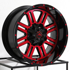 American Off-Road Wheels A106 Black Machined Red