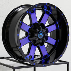 American Off-Road Wheels A108 Black Machined Blue