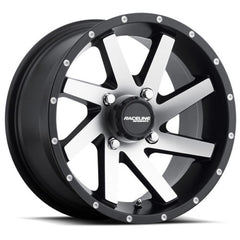 Raceline Wheels A82M Twist Machined Black