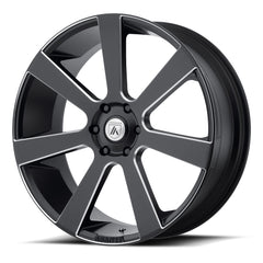 Asanti Black Wheels ABL-15 Apollo Satin Black Milled