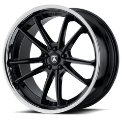 Asanti Black Wheels ABL-23 Delta Gloss Black Chrome Lip