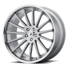 Asanti Black Wheels ABL-24 Beta Brushed Silver Chrome Lip