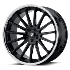 Asanti Black Wheels ABL-24 Beta Gloss Black Chrome Lip