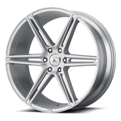 Asanti Black Wheels ABL-25 Alpha 6 Brushed Silver