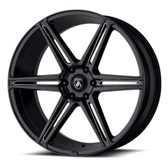Asanti Black Wheels ABL-25 Alpha 6 Gloss Black Milled