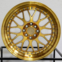 Aodhan Wheels AH02 Gold Machined Face