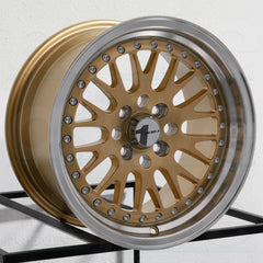 AVID1 Wheels AV12 Gold Machined Lip