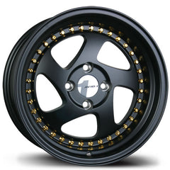 AVID1 Wheels AV19 Black Gold Rivets