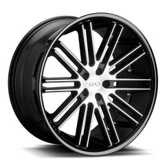 Azad Wheels AZ22 Black Machined