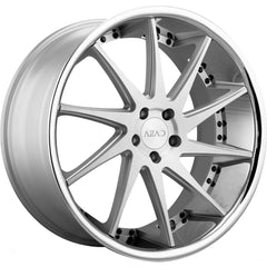 Azad Wheels AZ23 Silver Brushed Chrome Lip