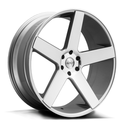 Azad Wheels AZ5198 Silver Machine Face