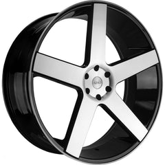 Azad Wheels AZ5198 Black Machine Face