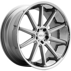 Azad Wheels AZ95 Silver Brush