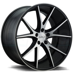 Azad Wheels AZ36 Black Machine Face