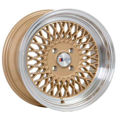 F1R Wheels F01 Gold Polish Lip