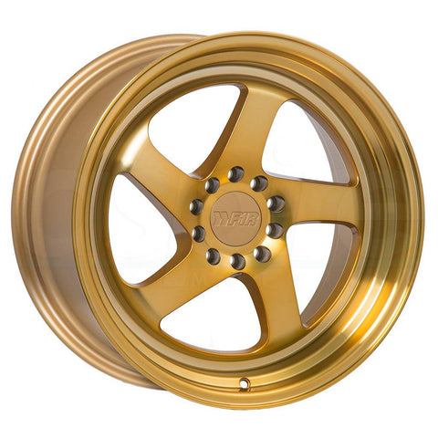F1R Wheels F28 Machine Gold