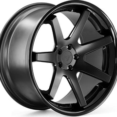 Ferrada Wheels FR1 Matte Black Black Lip