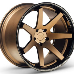 Ferrada Wheels FR1 Matte Bronze Black Lip