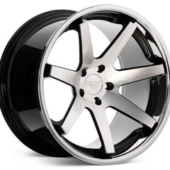 Ferrada Wheels FR1 Machine Black Chrome Lip
