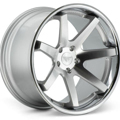 Ferrada Wheels FR1 Machine Silver Chrome Lip