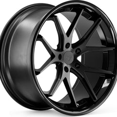 Ferrada Wheels FR2 Matte Black Black Lip