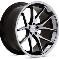 Ferrada Wheels FR2 Machine Black Chrome Lip