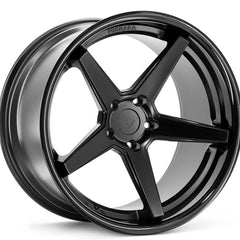 Ferrada Wheels FR3 Matte Black Black Lip