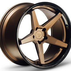 Ferrada Wheels FR3 Matte Bronze Black Lip