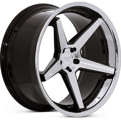 Ferrada Wheels FR3 Machine Black Chrome Lip