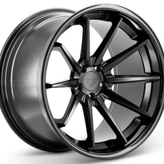 Ferrada Wheels FR4 Matte Black Black Lip
