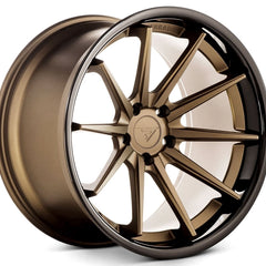 Ferrada Wheels FR4 Matte Bronze Black Lip