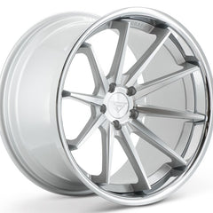 Ferrada Wheels FR4 Machine Silver Chrome Lip