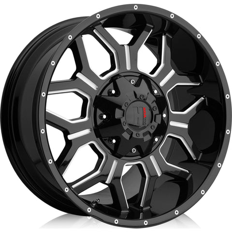 Havok Wheels H106 Black Milled