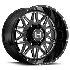 Hostile Wheels H111 Blaze Black Milled